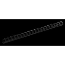 Пластиковые пружины для переплета, d 12мм, А4, 80 л., круглые, черные, по 100 шт. в упаковке