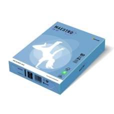 Бумага цветная А4 160 г/м 250л Maestro Color Intensive AB48 Aqua Blue синий