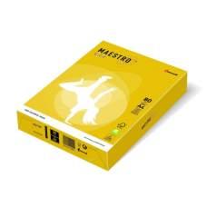 Бумага цветная А4 160 г/м 250л Maestro Color Intensive IG50 Mustard горчичный