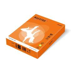 Бумага цветная А4 160 г/м 250л Maestro Color Intensive OR43 Orange оранжевый