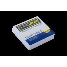 Блок белой бумаги для записей, JOBMAX 80х80х20 мм, склеенный