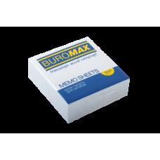 Блок белой бумаги для записей, JOBMAX 90х90х30 мм, склеенный