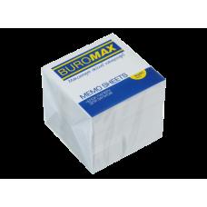 Блок белой бумаги для записей, 90х90х90 мм, не склеенный