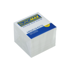 Блок белой бумаги для записей, JOBMAX, 90х90х70 мм, не склеенный