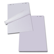 Блок бумаги для флипчартов JOBMAX, 64х90 см, нелинованный, 20 л., офсет 70 г/м2, полиэт.пакет
