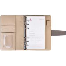 Бизнес-организатор, магнитная застежка, искусственная кожа, на кольца*, комбинированная обложка, 130