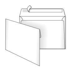 Конверт С5 162х229 скл белый 0+0 3444 500шт/уп