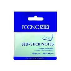 Стикеры Economix, 50х75, синие, 100л.