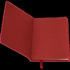 Блокнот деловой BRIEF, L2U, А5, 96 л., нелинов., красный, иск.кожа