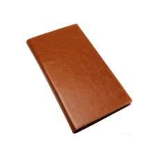 Візитниця на кільцях; 96 візиток, обкладинка - тверда, штучна шкіра Nebraska, коричнева