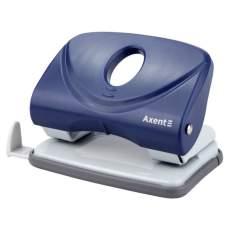 Дырокол 20л пластиковый с линейкой Axent 3820-02 Welle-2 синий 12/96шт/уп