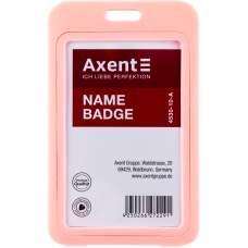 Бейдж вертикальный Axent 4530-10-A 54x85 мм, розовый