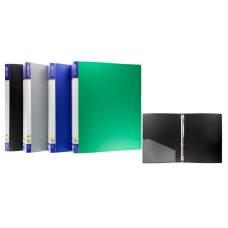 Накопитель А4 36мм 4кольца Еconomix 30702 пластиковый с карманом ассорти 10шт/уп