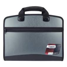 Портфель Axent 1621-11-A, А4, 4 отделения, серый металлик