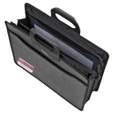 Портфель Axent 1603-01-A на молнии, В4, 3 отделения, чёрный