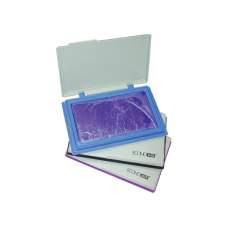 Подушка штемпельная настольная Есonomix, 70х110 мм, фиолетовая