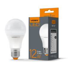Лампа LED, 12W, E27, 3000K, 220V, VIDEX