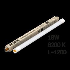 Лампа LED, 18W, 1.2M, 6200K, 220V, матова, VIDEX