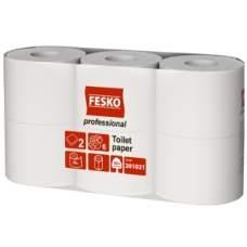 Туалетная бумага белая 2слоя  55м 6шт Ruta Professional 7уп/пак