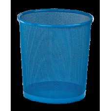 Корзина для бумаг, 12 л, круглая, металлическая, синяя, KIDS Line