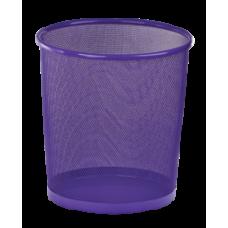 Корзина для бумаг, 12 л, круглая, металлическая, фиолетовая, KIDS Line