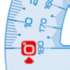 Транспортир UNBREAKABLE, 180гр/120мм, ударопрочный пластик