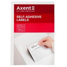 Самоклеящиеся этикетки Axent 2465-A 100 листов A4, 70x37 мм