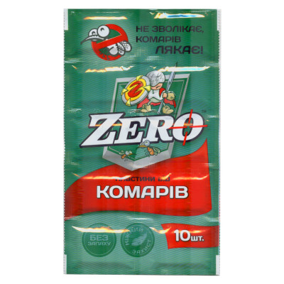 Пластины от комаров ZERO, 10шт