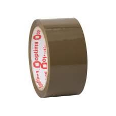 Лента клейкая упаковочная (скотч) Optima Extra, коричневая, 48мм*70м