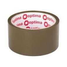 Лента клейкая упаковочная (скотч) Optima, коричневая, 48мм*40м