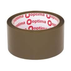 Лента клейкая упаковочная (скотч) Optima Extra, коричневая, 48мм*50м
