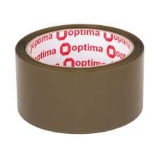 Лента клейкая упаковочная (скотч) Optima, коричневая, 48мм*60м