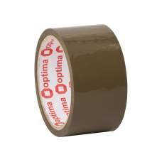 Лента клейкая упаковочная (скотч) Optima Extra, коричневая, 48мм*35м
