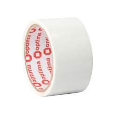 Лента клейкая упаковочная (скотч) Optima, белая, 48мм*30м