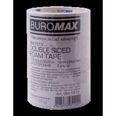 Клейкая лента JOBMAX, 18 мм х 2 м, двухсторонняя, на пенной основе