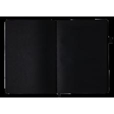 Блокнот деловой BRIGHT, А5, 96 л., (черн. бум.), оранжевый с серебром, иск.кожа