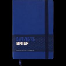 Блокнот деловой BRIEF, L2U, А5, 96 л., нелинов., синий, иск.кожа