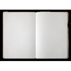Блокнот деловой CHERIE А5, 96л., точка, иск. кожа, т.-синий