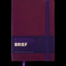 Блокнот деловой BRIEF, L2U, А5, 96 л., линия, марсала, иск.кожа