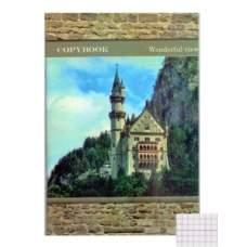 Книга А4 офсетная  96л клетка картонная обложка ККР-96