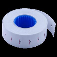 Ценник 22x12 мм (1000 шт, 12 м), прямоугольный, внутренняя намотка, белый
