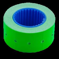 Ценник 22x12 мм (500 шт, 6 м), прямоугольный, внешняя намотка, зеленый