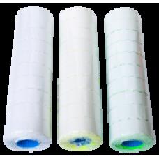 Ценник 22x12 мм (1000 шт, 12 м), фигурный, внутренняя намотка, белый