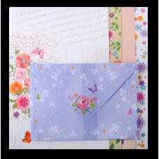 Заготовка для открыток с цветными конвертами