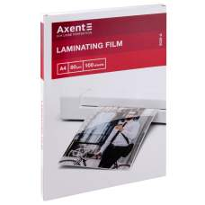 Плёнка для ламинирования Axent 2020-A, 80 мкм, A4, 216 x 303 мм, 100 штук