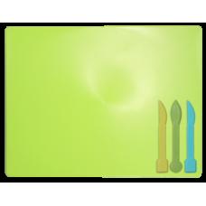 Доска для пластилина + 3 стека для лепки, салатовая