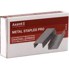 Скобы для степлеров Axent Pro 4312-A, №24/6, 1000 штук