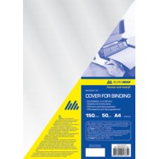 Обложка для переплета, А4, пластик 150 мкм, прозрачная, по 50 шт. в упаковке