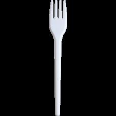Вилка одноразовая, 17 см, белая, 2,1 г, 100шт
