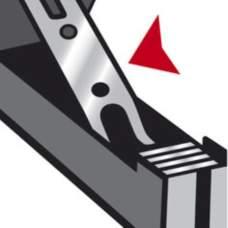 Степлер ADVANCED METAL, металлический, 25л., (скобы №24/6, 26/6), серебристый